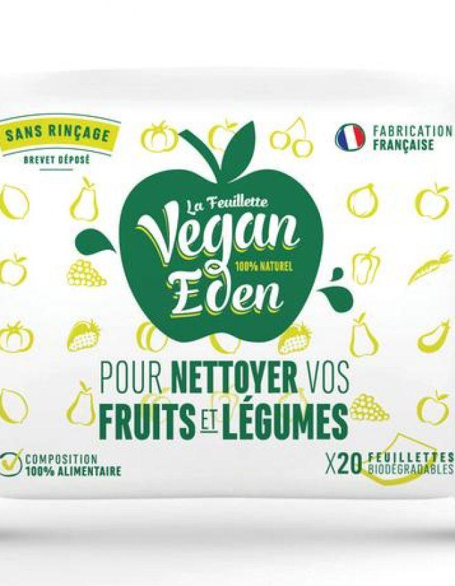Vegan Eden : les lingettes 100% naturelles pour nettoyer ses fruits