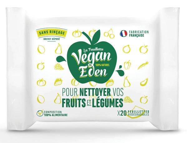 lingettes pour nettoyer fruits et légumes