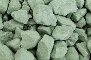pierres d'argile verte naturelle