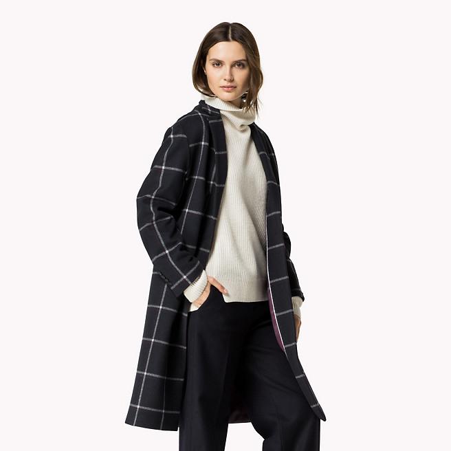 veste en laine à carreaux