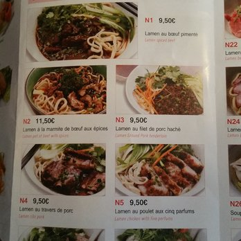 menu my noodles paris