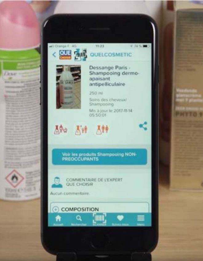 Application «QuelCosmetic» – Repérez les produits dangereux