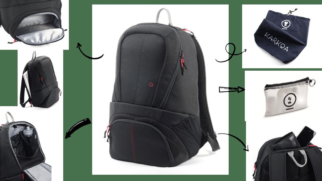 sac de sport compartimenté nomad 25 karkoa